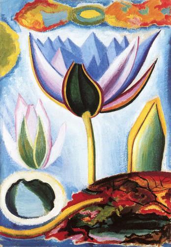 Tropical Flower By Joseph Stella
