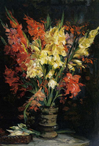 Gladioli By Jacques Emile Blanche