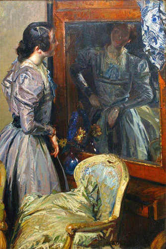 In The Mirror By Jacques Emile Blanche