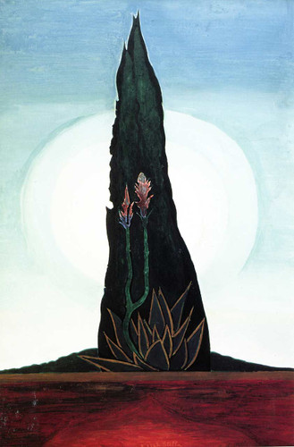 Tree Cactus Moon By Joseph Stella