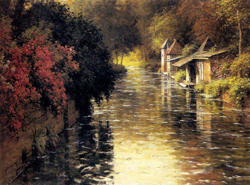 A French River Landscape By Louis Aston Knight