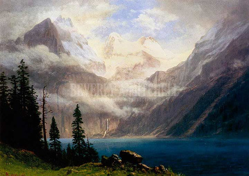 Mountain Scene by Albert Bierstadt