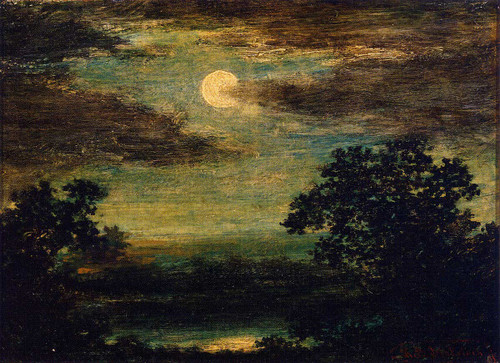 Moonlight On The River By Ralph Albert Blakelock