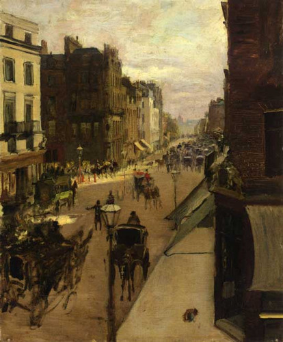 A Street Scene In London By Jacques Emile Blanche