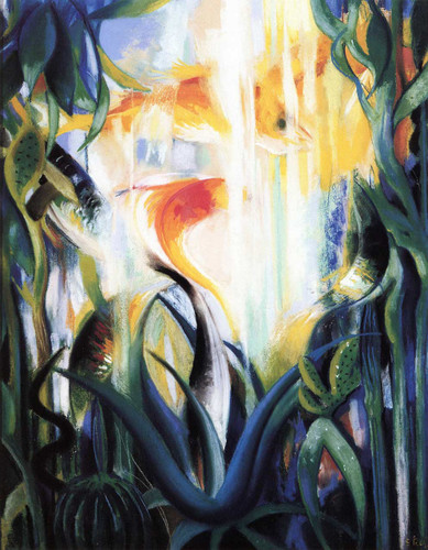 Aquatic Life (Also Known As Goldfish) By Joseph Stella