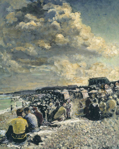 August Morning Dieppe Beach By Jacques Emile Blanche