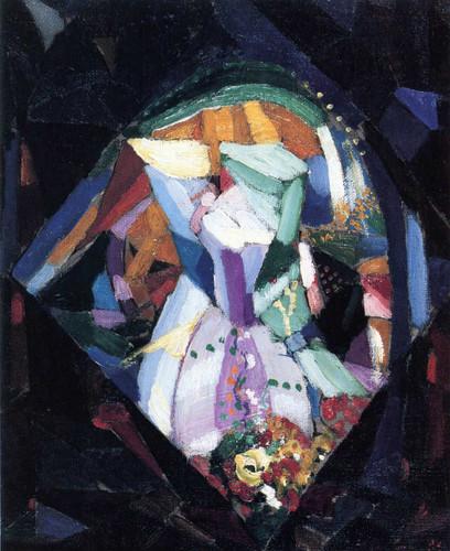 Battle Of Lights (Study) By Joseph Stella