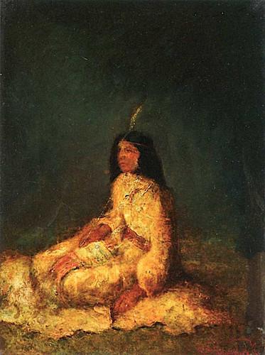 Indian Madonna By Ralph Albert Blakelock