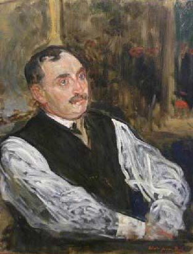 Study For The Portrait Of Paul Claudel By Jacques Emile Blanche