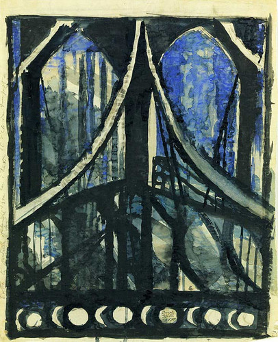 Study Of The Brooklyn Bridge By Joseph Stella