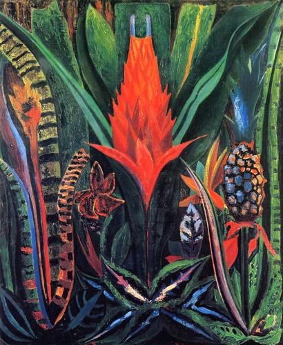 Tropical Flowers 1 By Joseph Stella