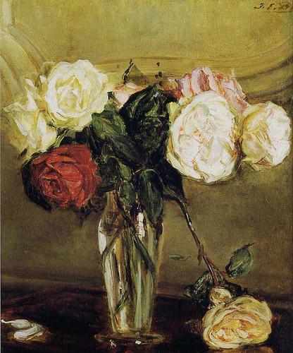 Vase Of Roses By Jacques Emile Blanche