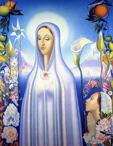 Virgin Of The Rose And Lily By Joseph Stella
