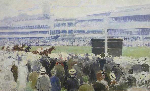 At A Racecourse Near London 1 By Jacques Emile Blanche