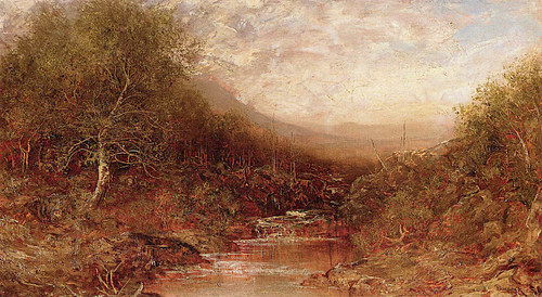 Autumn Landscape With Stream By Ralph Albert Blakelock