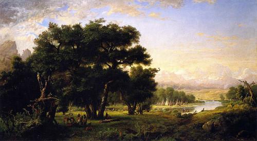 Encampment Along The Snake River By Ralph Albert Blakelock