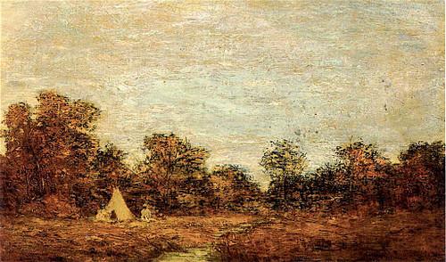 Encampment At Sunset By Ralph Albert Blakelock