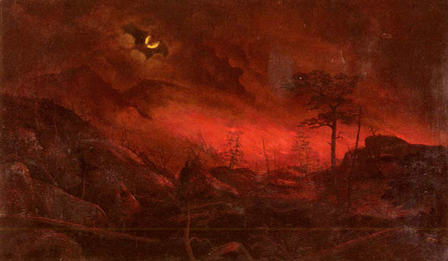Forest Fire By Ralph Albert Blakelock