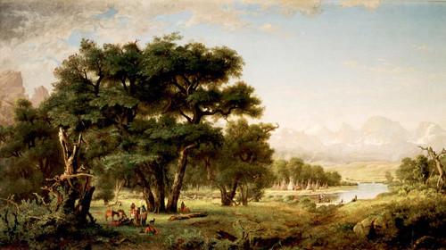 Indian Encampment Along The Snake River By Ralph Albert Blakelock