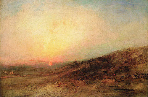 Indian Encampment At Sunset By Ralph Albert Blakelock