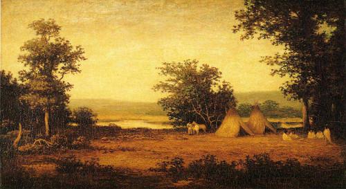 Indian Encampment On The James River North Dakota By Ralph Albert Blakelock