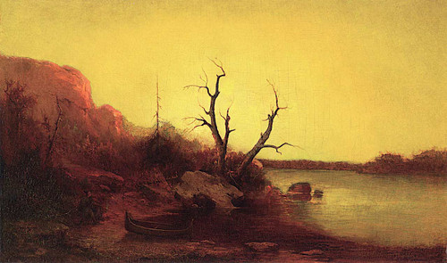 Indian Encampment On The Lake By Ralph Albert Blakelock