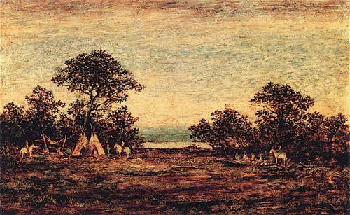 Indian Encampment By Ralph Albert Blakelock