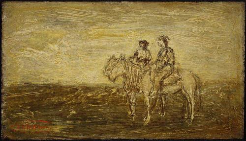 Indian Horsemen After Dawn By Ralph Albert Blakelock