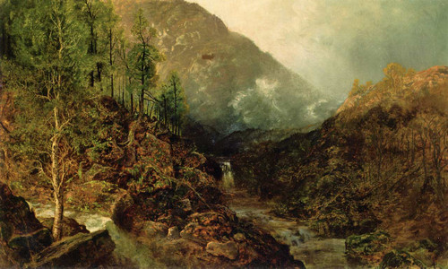 Landscape With Two Waterfalls By Ralph Albert Blakelock