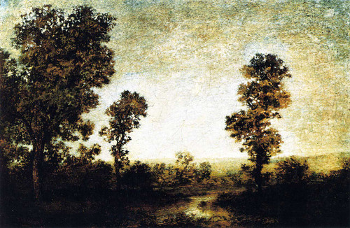 Landscape With Walled Town By Ralph Albert Blakelock