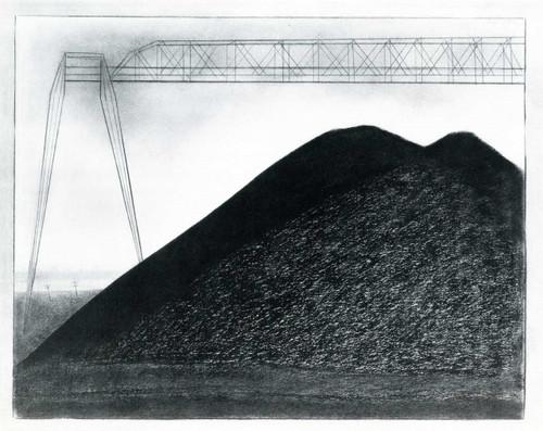 Bituminous Cole Storage Piles By Joseph Stella