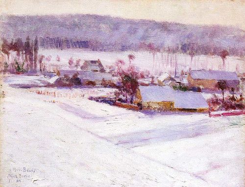Giverny Winter By John Leslie Breck