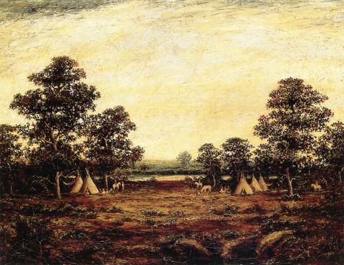 Indian Encampment 1 By Ralph Albert Blakelock