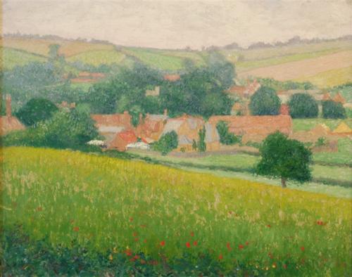 Poppy Fields Giverny By John Leslie Breck