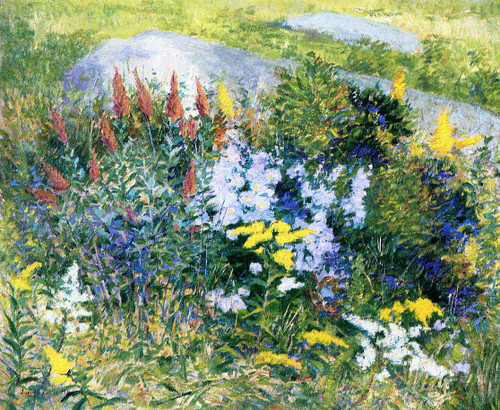Rock Garden At Giverny By John Leslie Breck