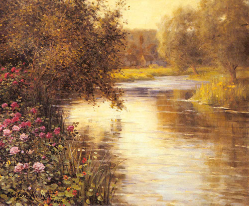 Spring Blossoms Along A Meandering River By Louis Aston Knight