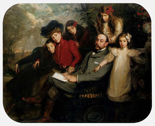 The Poet Francis Viele Griffin And His Family By Jacques Emile Blanche