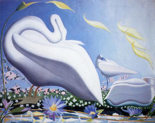 White Swan By Joseph Stella