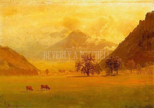 Rhone Valley by Albert Bierstadt