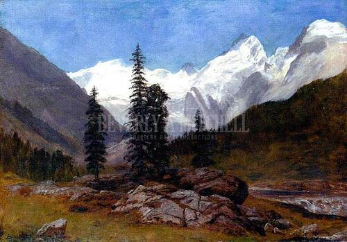 Rocky Mountain 1 by Albert Bierstadt