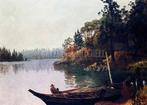 Salmon Fishing On The Northwest Coast by Albert Bierstadt