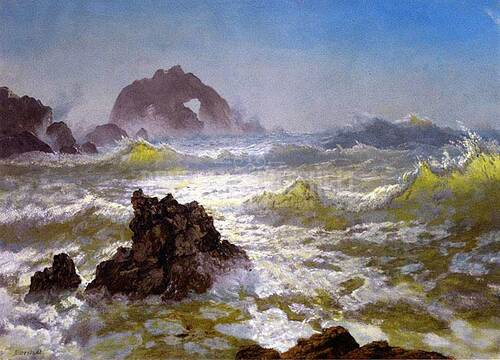Seal Rock California by Albert Bierstadt