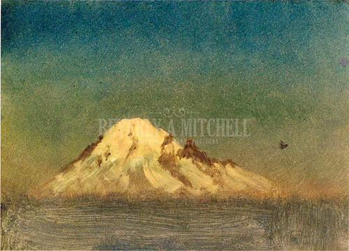 Snow Capped Moutain by Albert Bierstadt