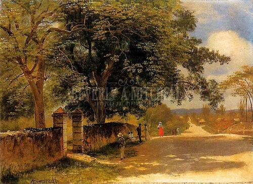 Street In Nassau by Albert Bierstadt