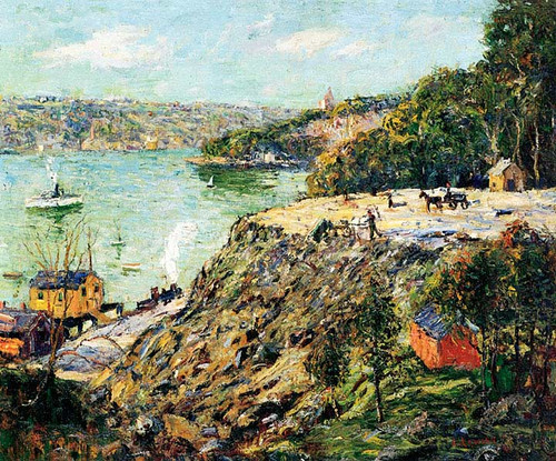 Across The River New York by Ernest Lawson