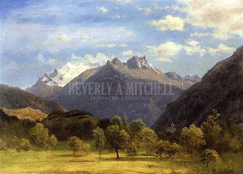 The Alps From Visp by Albert Bierstadt