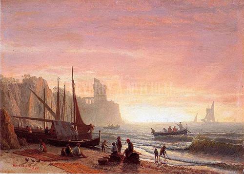 The Fishing Fleet by Albert Bierstadt