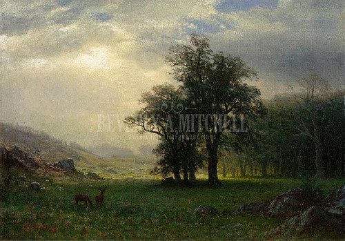 The Open Glen by Albert Bierstadt