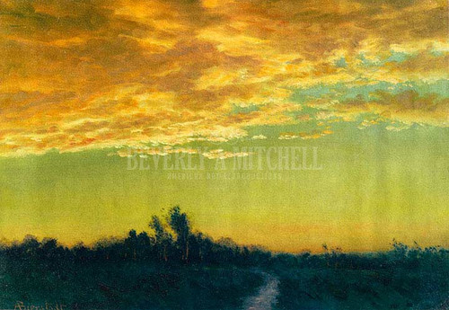 Twilight Over The Path by Albert Bierstadt