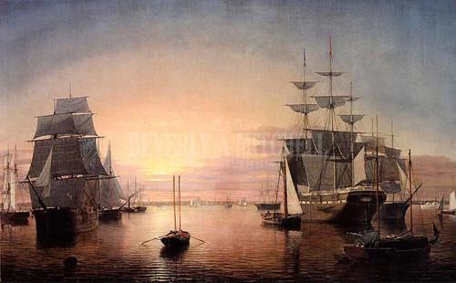 Boston Harbor At Sunset2 by Fitz Henry Lane